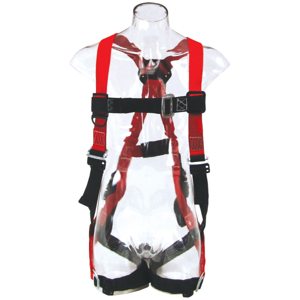 """Picture of """"H"""" Style Harness with D-Ring back attachment and belt attachment"""