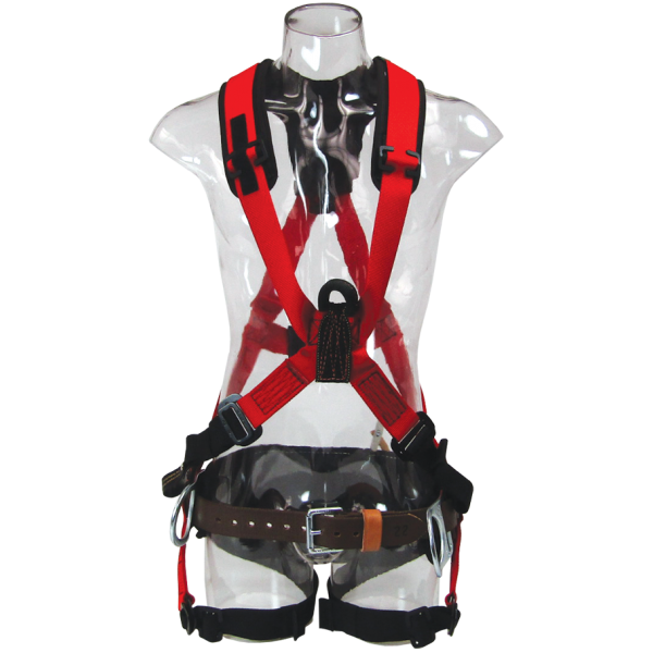 """Picture of """"X"""" Style Harness with nylon loop back attachment and 656CM tool belt"""