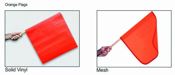"""Picture of Mesh Orange Flag 24"""""""